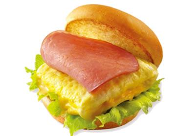 屏東摩斯漢堡-元氣早餐-火腿歐姆蛋堡